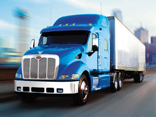 semi-truck blue without title